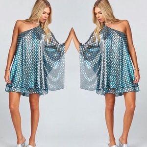 Show Me Your Mumu Zsa Zsa dress xs stars blue new